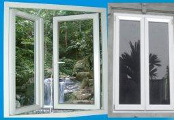 Cửa nhựa lõi thép hệ cửa sổ mở quay 2 cánh